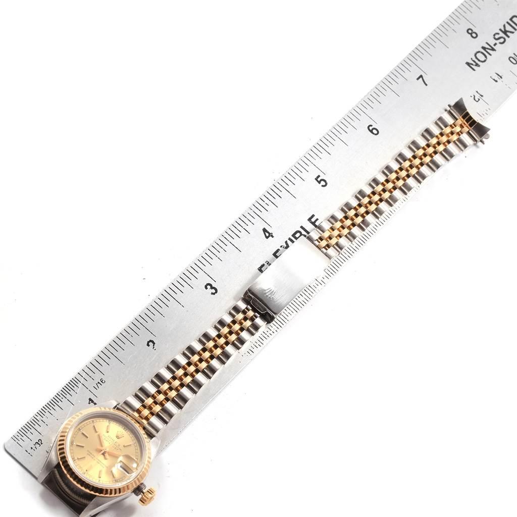 Rolex Datejust 26mm Steel 18K Yellow Gold Ladies Watch 69173 SwissWatchExpo