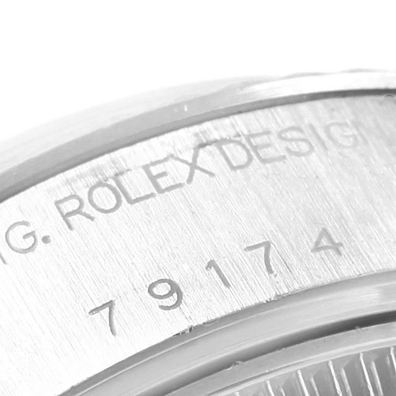 20677 Rolex Datejust Steel White Gold Silver Diamond Dial Ladies Watch 79174 SwissWatchExpo