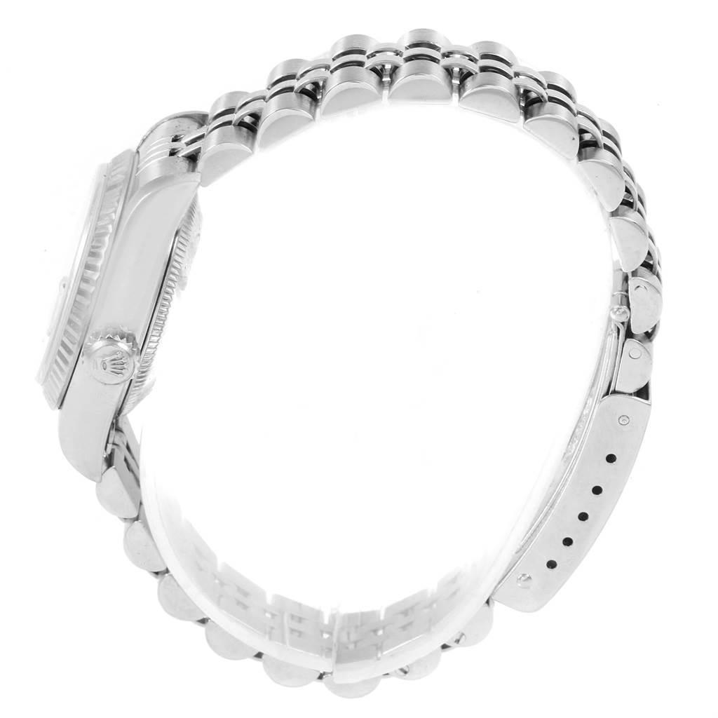 20700 Rolex Datejust Ladies Steel White Gold Silver Diamond Dial Watch 69174 SwissWatchExpo