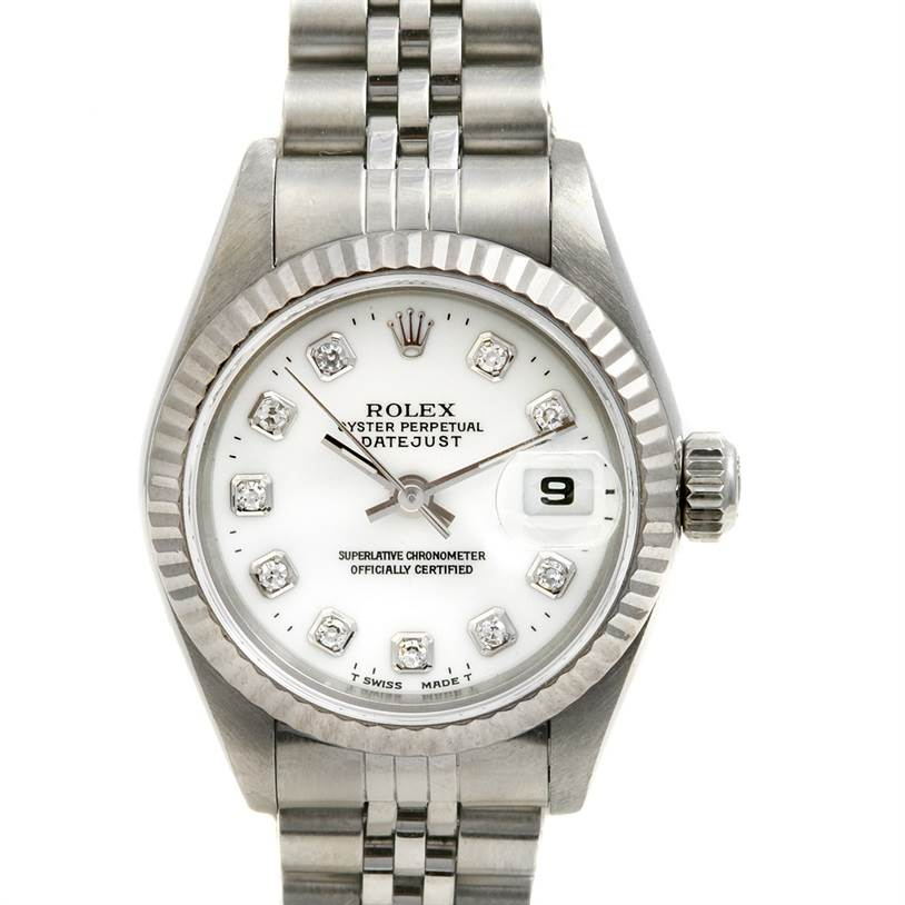 2374 Rolex Datejust Ladies Ss & 18k White Gold Diamond 69174 SwissWatchExpo