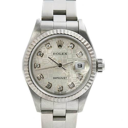 Photo of Rolex Datejust Ladies Steel 18k White Gold Diamond 79174