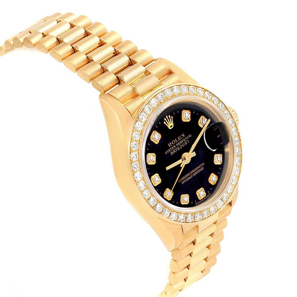 Rolex President Datejust Yellow Gold Diamond Ladies Watch 79138 Box SwissWatchExpo