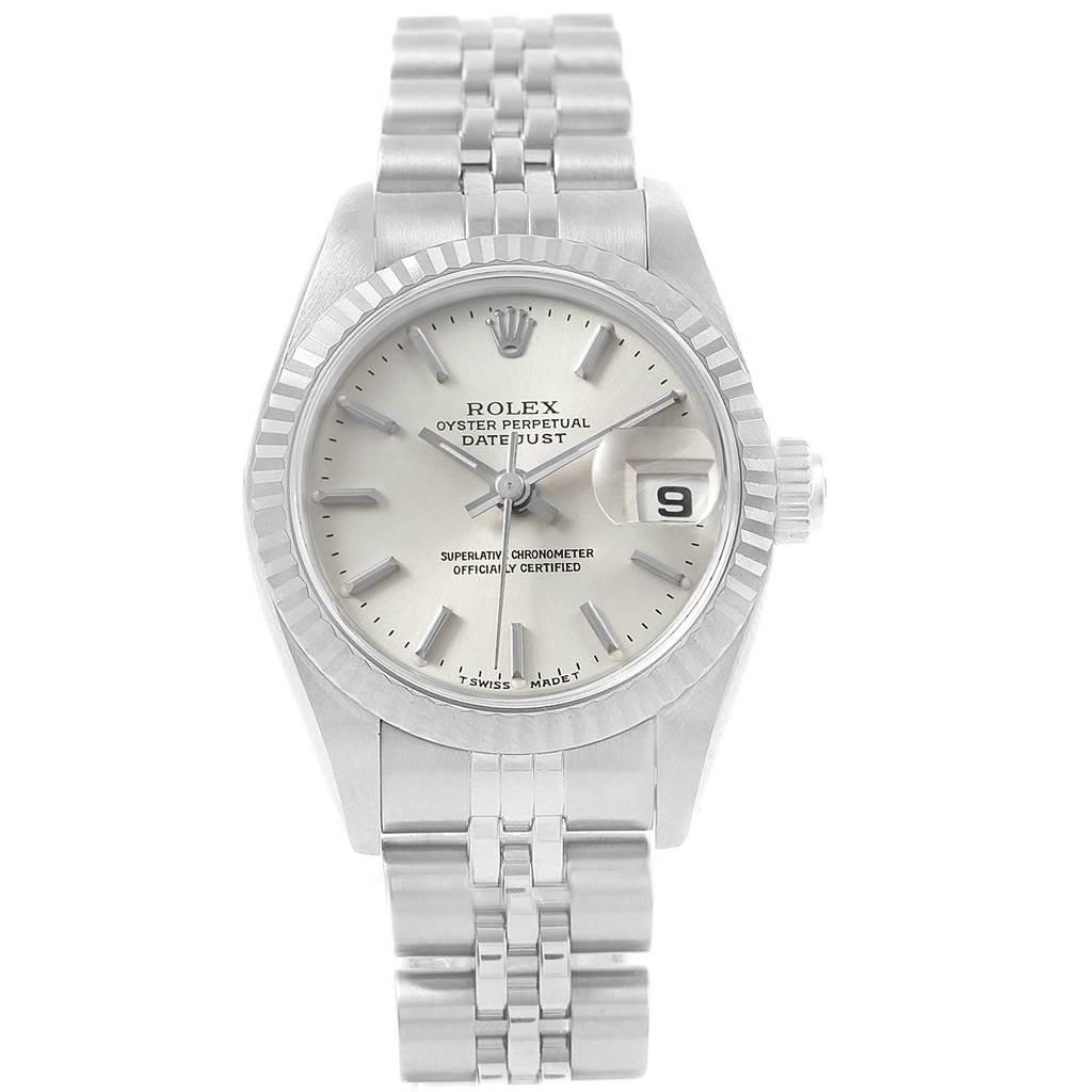 Rolex Datejust 26 Steel 18K White Gold Fluted Bezel Ladies Watch 69174 SwissWatchExpo