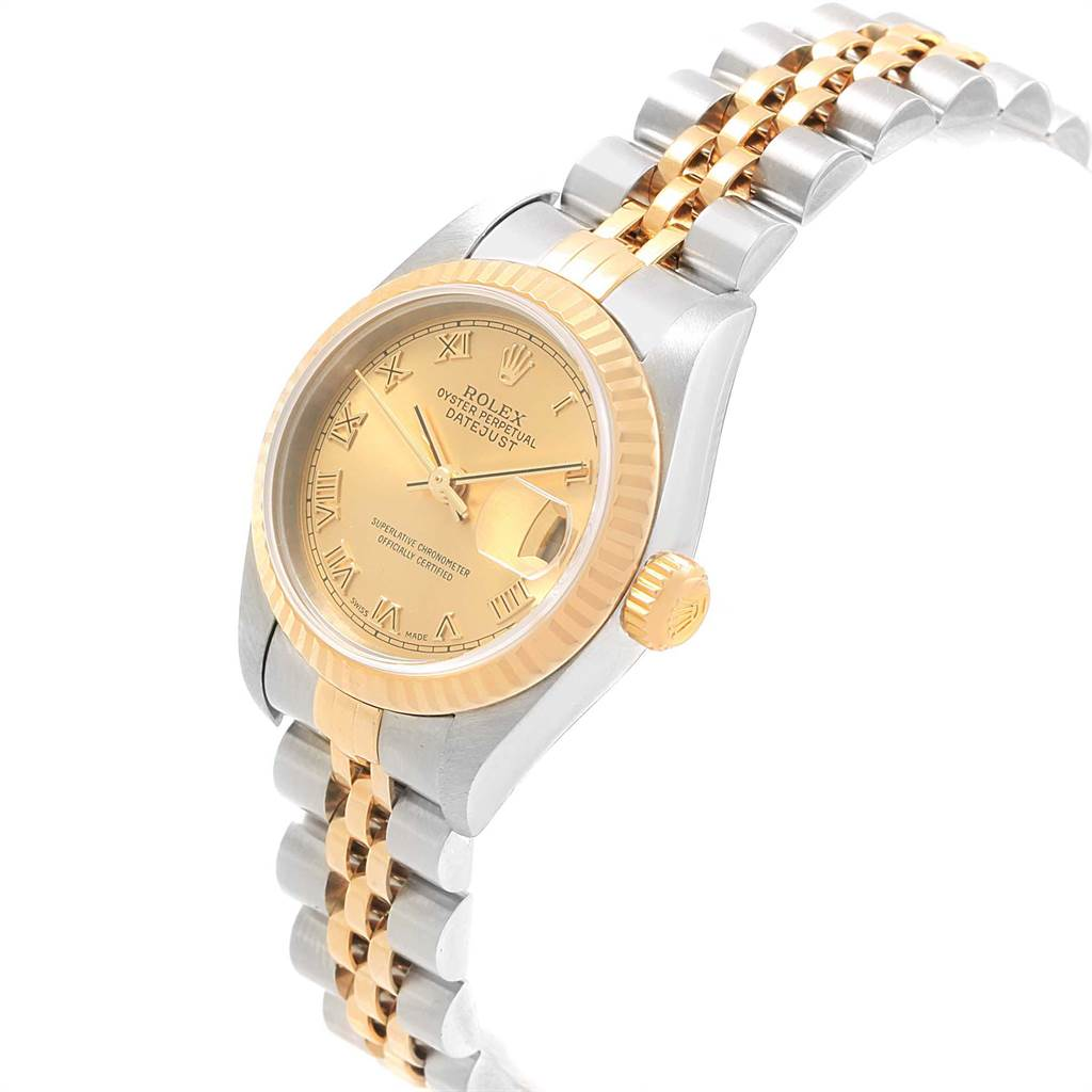 21408 Rolex Datejust Steel Yellow Gold Roman Dial Ladies Watch 79173 SwissWatchExpo