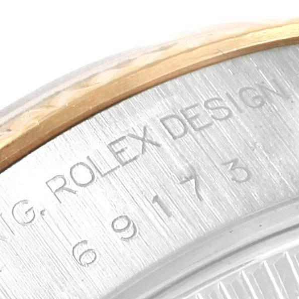 21488 Rolex Datejust 26 Steel Yellow Gold Fluted Bezel Ladies Watch 69173 SwissWatchExpo