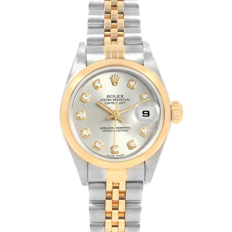 Rolex Datejust Steel Yellow Gold Diamond Ladies Watch 79163 Box Papers SwissWatchExpo