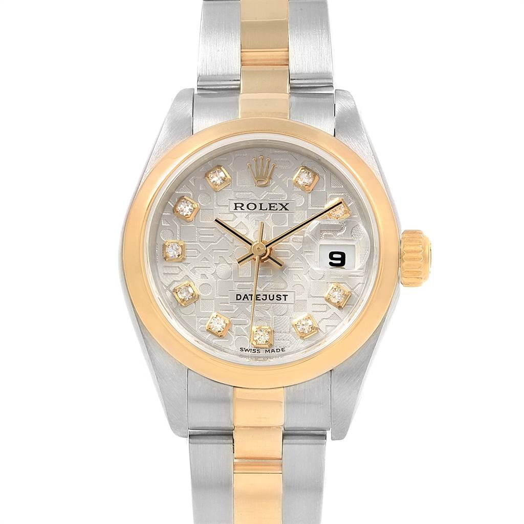 21604 Rolex Datejust Steel Yellow Gold Anniversary Diamond Ladies Watch 79163 SwissWatchExpo