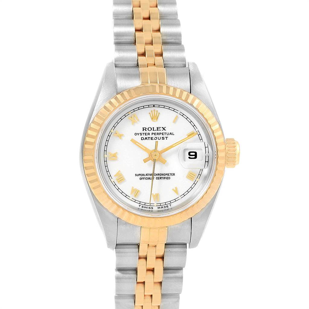 21664 Rolex Datejust 26mm Steel Yellow Gold Ladies Watch 69173 Box Papers SwissWatchExpo
