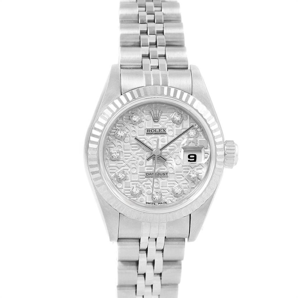 20398 Rolex Datejust Steel White Gold Anniversary Diamond Ladies Watch 79174 SwissWatchExpo