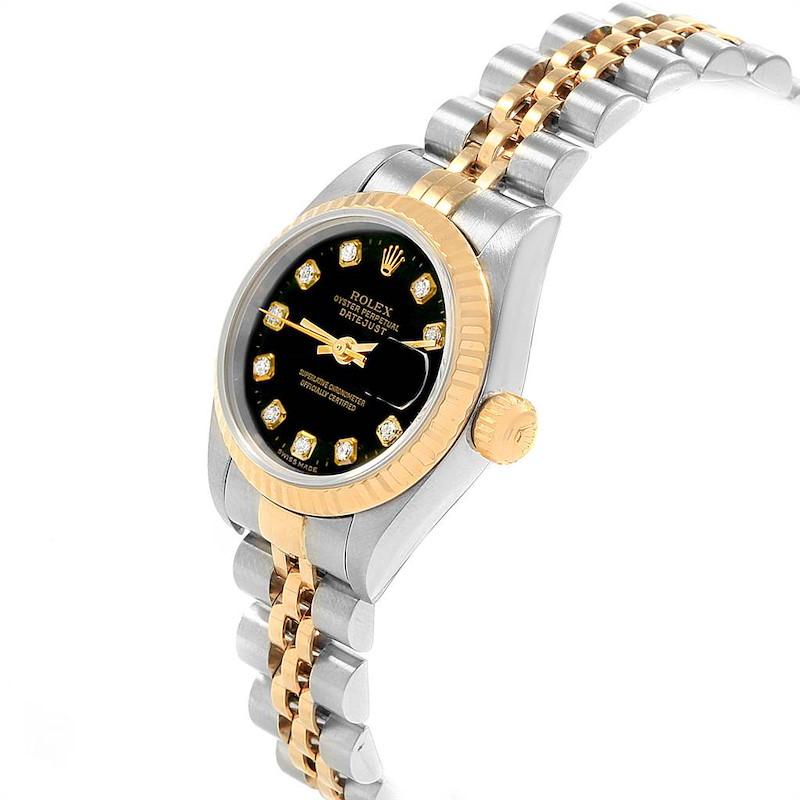Rolex Datejust Steel Yellow Gold Diamond Ladies Watch 69173 Box Papers SwissWatchExpo