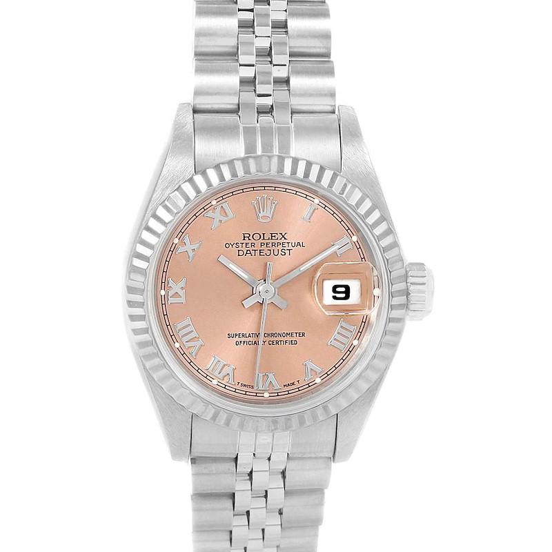 Rolex Datejust 26 Ladies Steel White Gold Watch 69174 Box Papers SwissWatchExpo