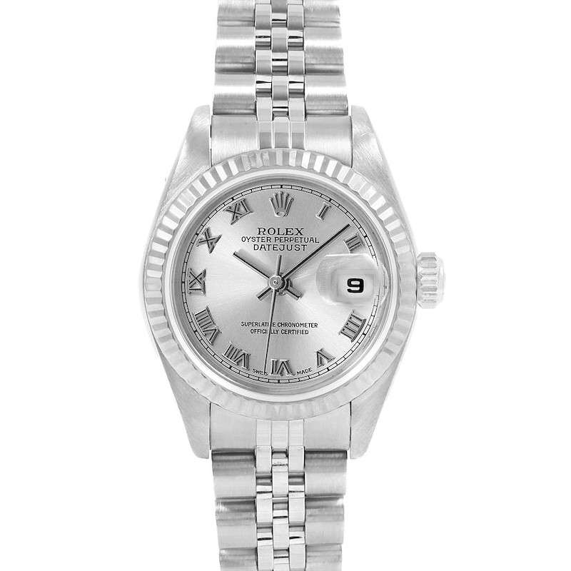 Rolex Datejust 26 Steel White Gold Ladies Watch 79174 Box Papers SwissWatchExpo