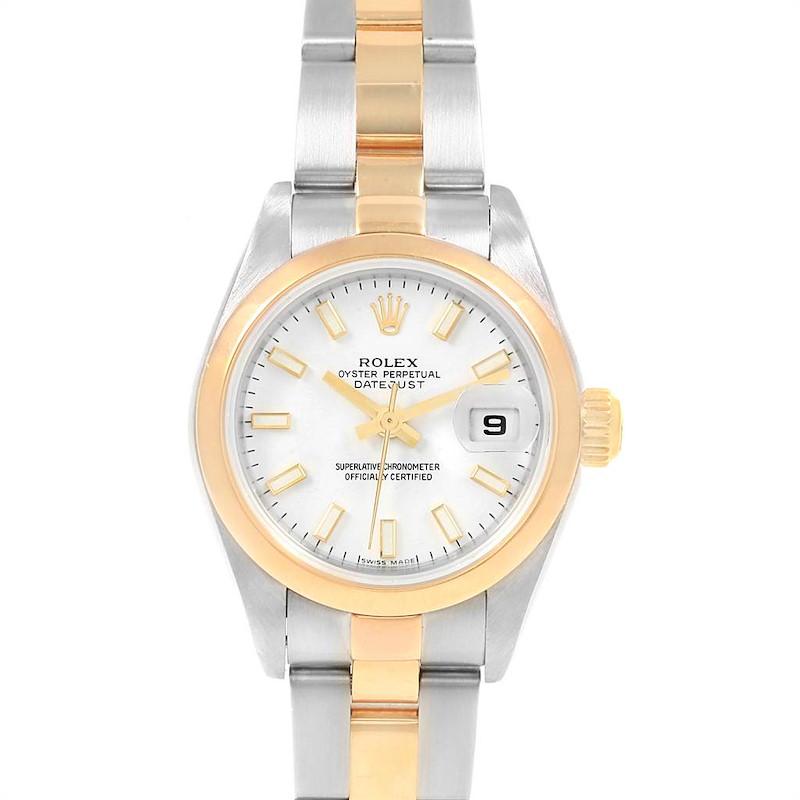 Rolex Datejust 26 Steel Yellow Gold Ladies Watch 79163 Box Papers SwissWatchExpo