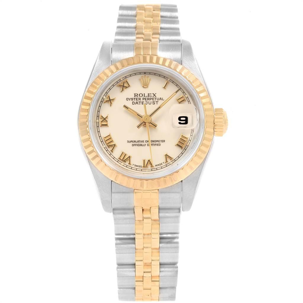 Rolex Datejust 26mm Steel Yellow Gold Ladies Watch 69173 Box Papers SwissWatchExpo