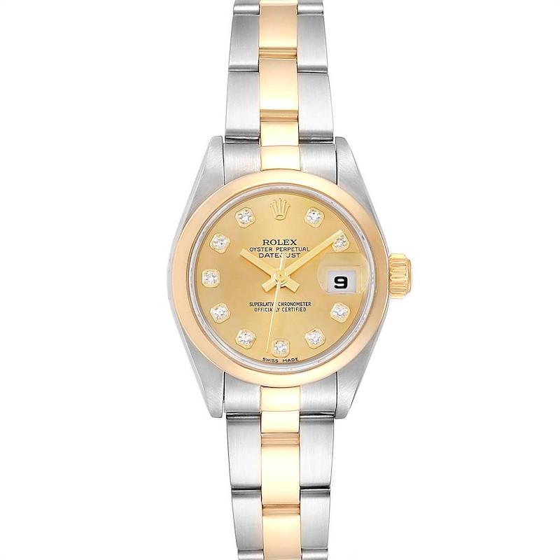 Rolex Datejust 26 Ladies Steel Yellow Gold Diamond Ladies Watch 79163 Box SwissWatchExpo