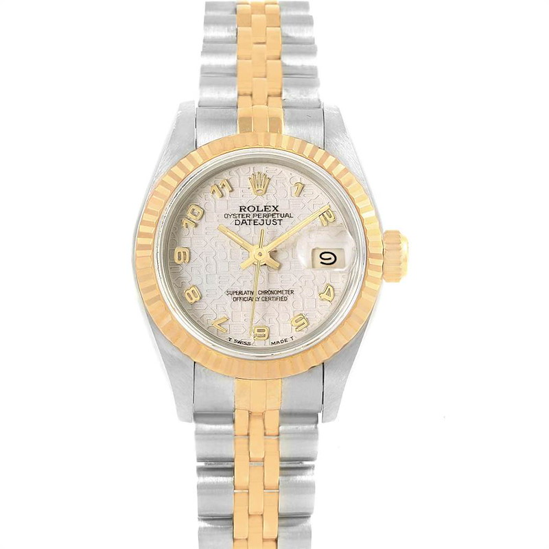 Rolex Datejust 26 Steel Yellow Gold Anniversary Dial Ladies Watch 69173 SwissWatchExpo