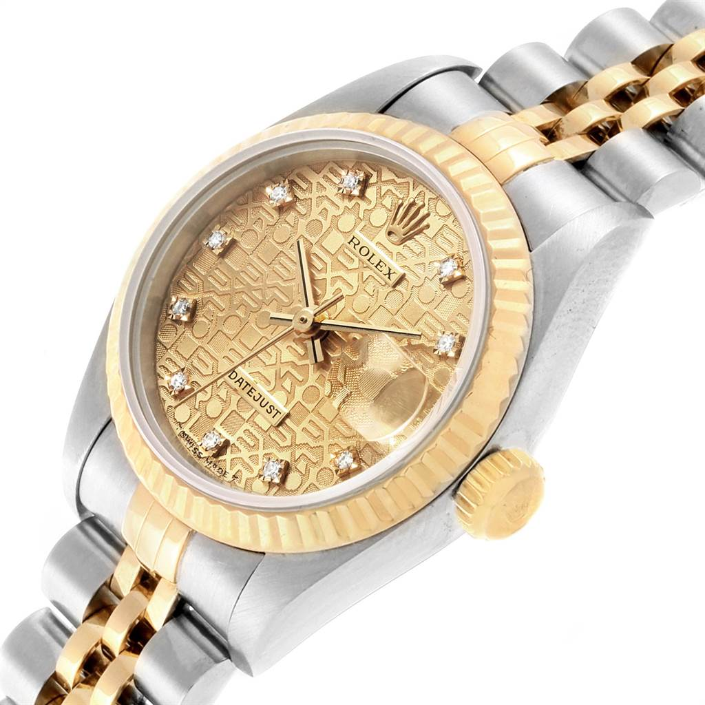Rolex Datejust Steel Yellow Gold Anniversary Diamond Ladies Watch 69173 Partial Payment SwissWatchExpo