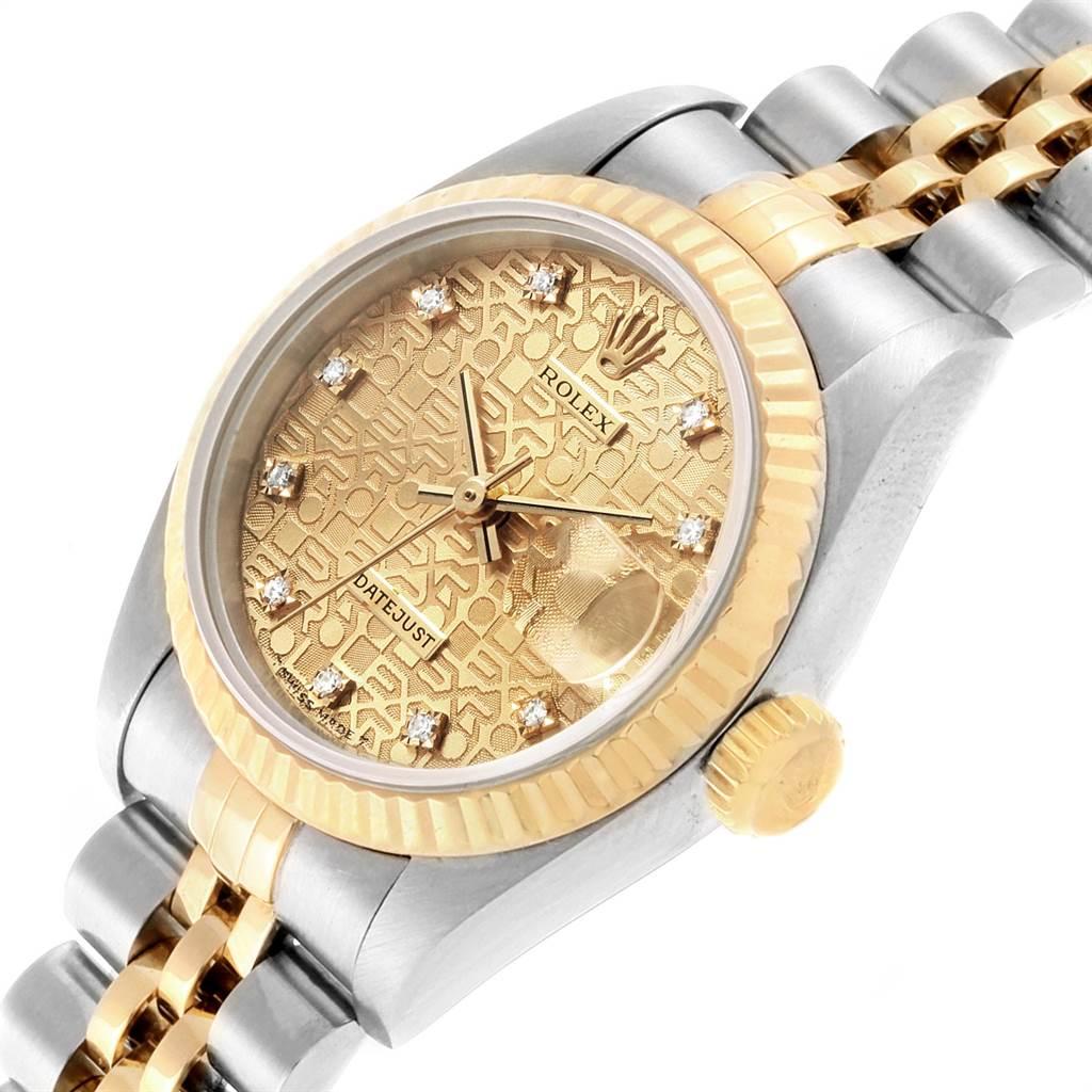 21894 Rolex Datejust Steel Yellow Gold Anniversary Diamond Ladies Watch 69173 Partial Payment SwissWatchExpo