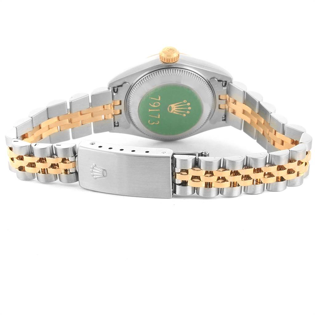 21796 Rolex Datejust 26mm Steel Yellow Gold Diamond Ladies Watch 79173 SwissWatchExpo