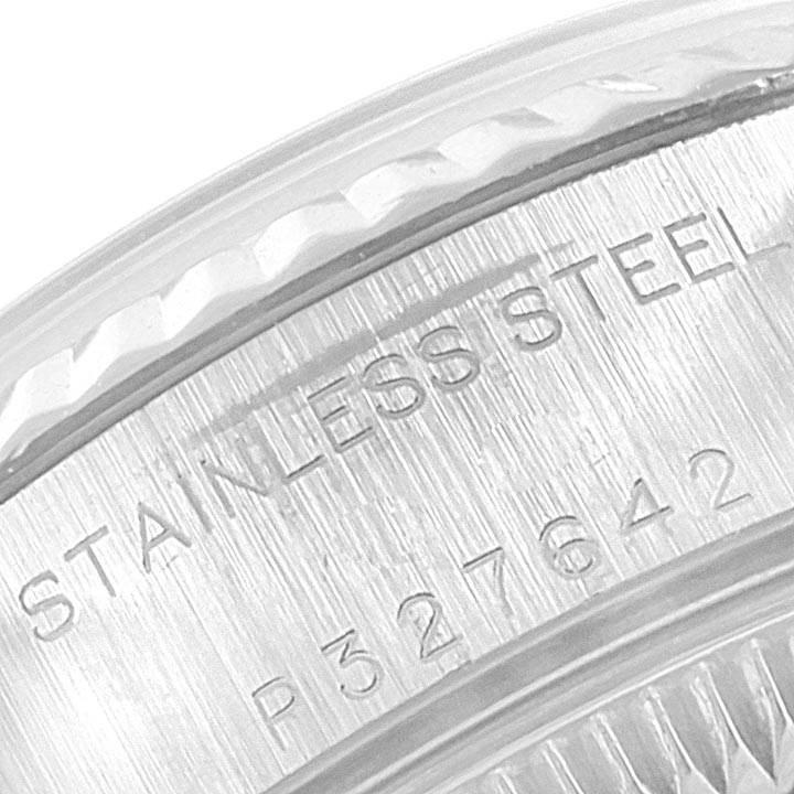21887 Rolex Datejust Steel White Gold Blue Roman Dial Ladies Watch 79174 SwissWatchExpo