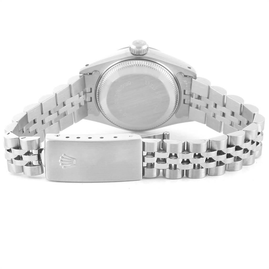 Rolex Datejust 26 Steel White Gold Diamond Automatic Ladies Watch 69174 SwissWatchExpo