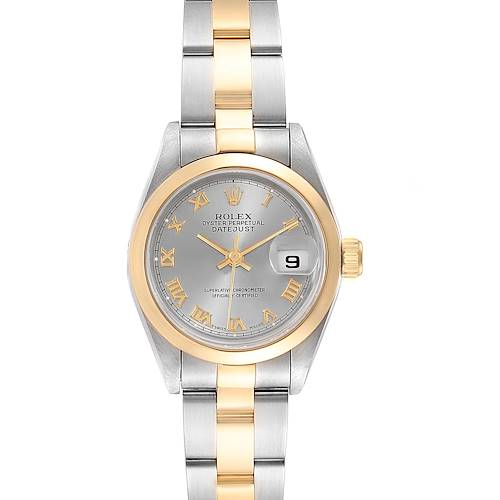 Rolex Datejust Steel Yellow Gold Slate Dial Ladies Watch 69163