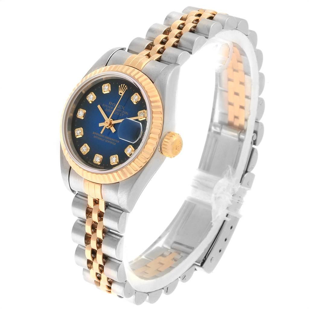 Rolex Datejust 26 Steel Yellow Gold Vignette Diamond Ladies Watch 69173 SwissWatchExpo