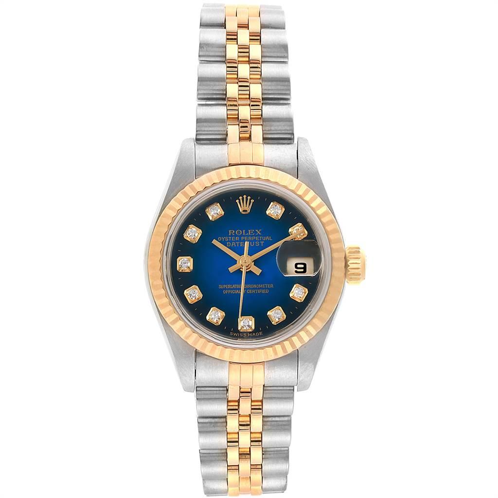 22336 Rolex Datejust 26 Steel Yellow Gold Vignette Diamond Ladies Watch 69173 SwissWatchExpo