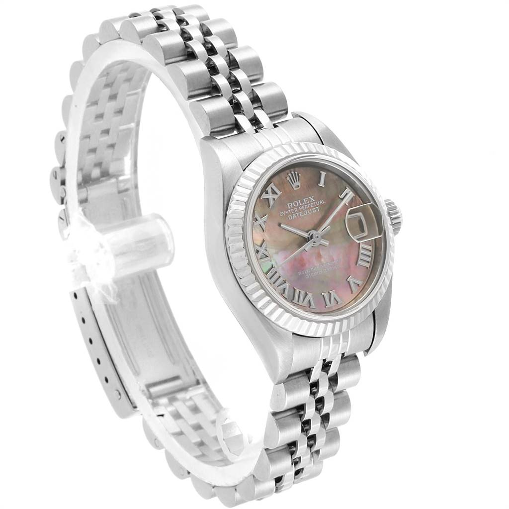 22265 Rolex Datejust 26 Steel White Gold MOP Ladies Watch 79174 Box Papers SwissWatchExpo
