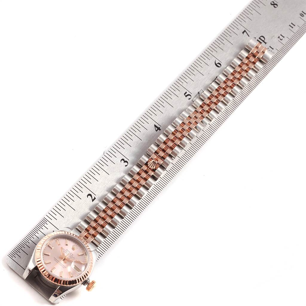 22371 Rolex Datejust Steel Everose Gold Ladies Watch 179171 Box Papers SwissWatchExpo