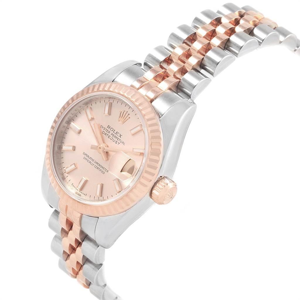 Rolex Datejust Steel Everose Gold Ladies Watch 179171 Box Papers SwissWatchExpo