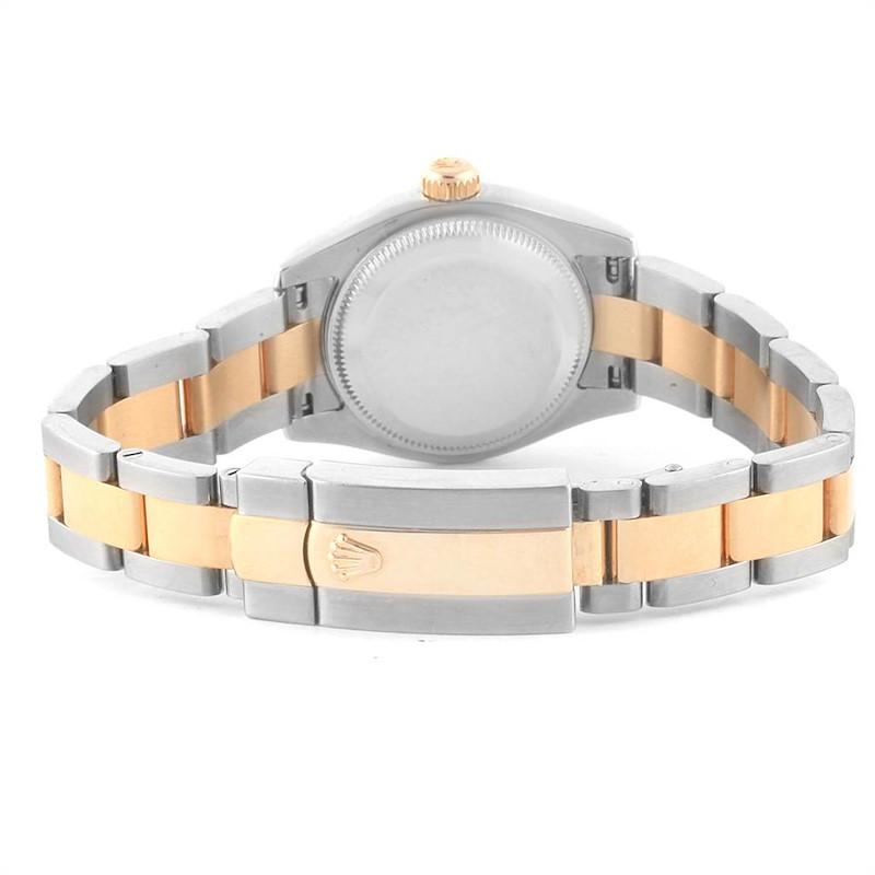 Rolex Datejust 26 Steel Yellow Gold Diamond Ladies Watch 179163 SwissWatchExpo