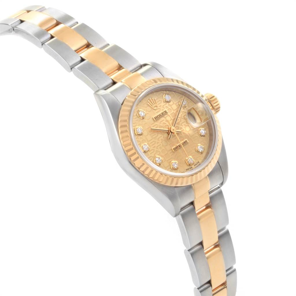 22561 Rolex Datejust 26mm Steel Yellow Gold Diamond Ladies Watch 79173 SwissWatchExpo