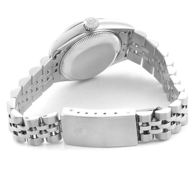 Rolex Datejust 26 Steel White Gold Salmon Roman Dial Ladies Watch 69174 SwissWatchExpo