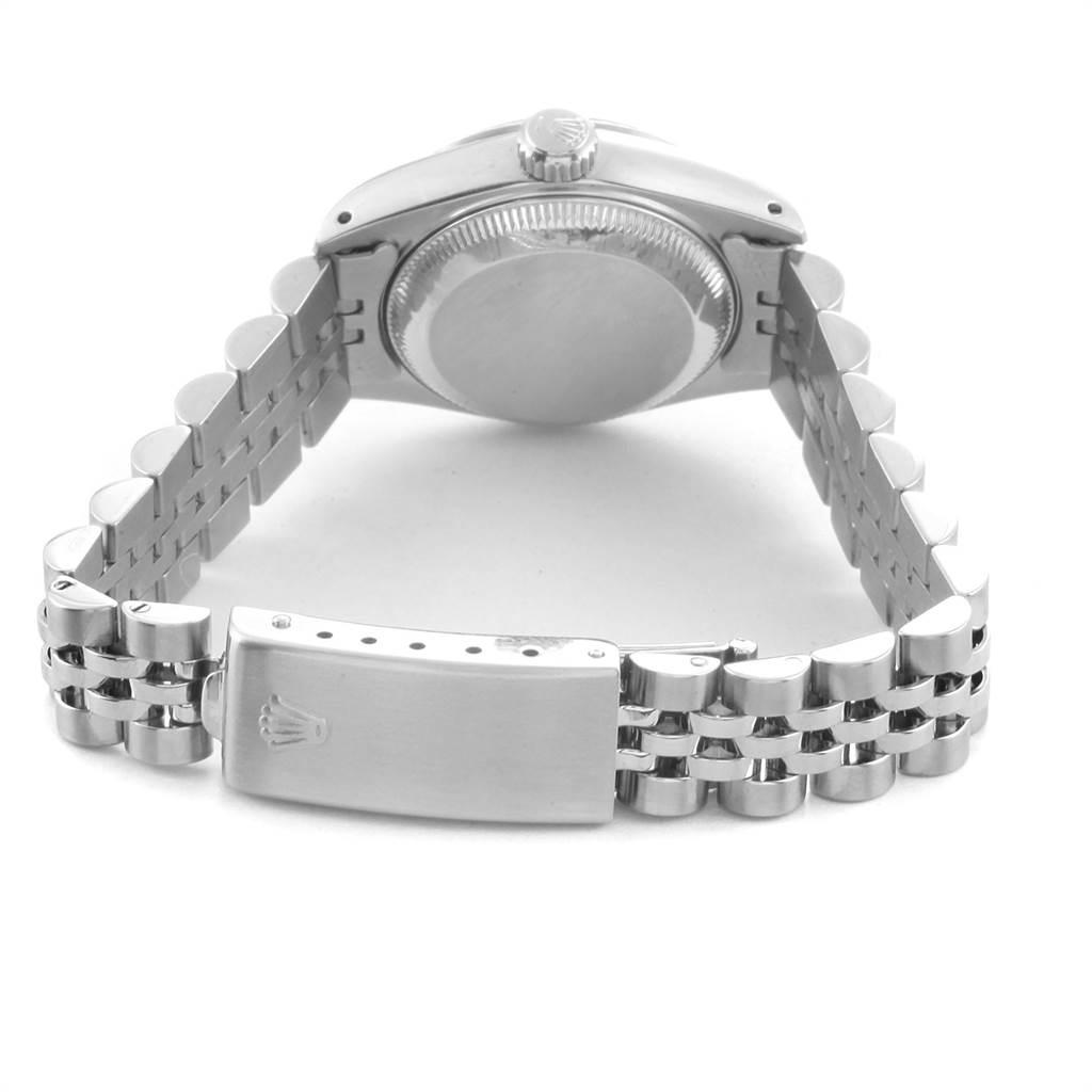 Rolex Datejust 26mm Steel White Gold Silver Dial Ladies Watch 69174 SwissWatchExpo