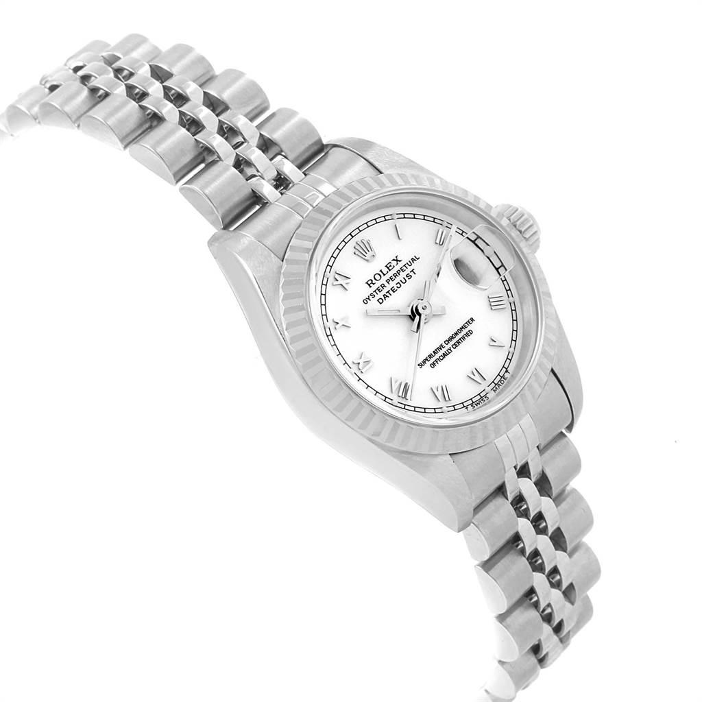 22527 Rolex Datejust 26 Steel White Gold Roman Dial Ladies Watch 69174 SwissWatchExpo