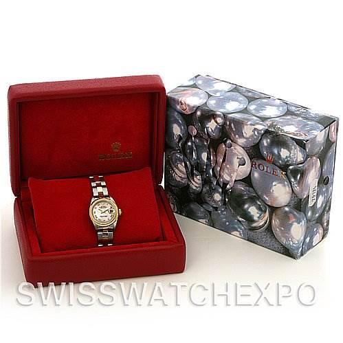 2239A Rolex Datejust Ladies Ss & 18k Yellow Gold Watch 69163 SwissWatchExpo