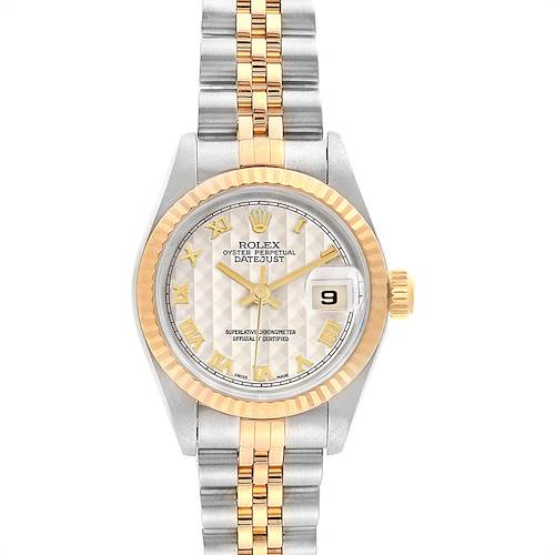 Photo of Rolex Datejust 26 Steel Yellow Gold Ladies Watch 69173 Box Papers