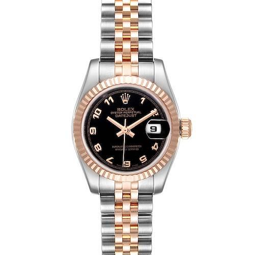 Photo of Rolex Datejust Steel Everose Gold Black Dial Ladies Watch 179171