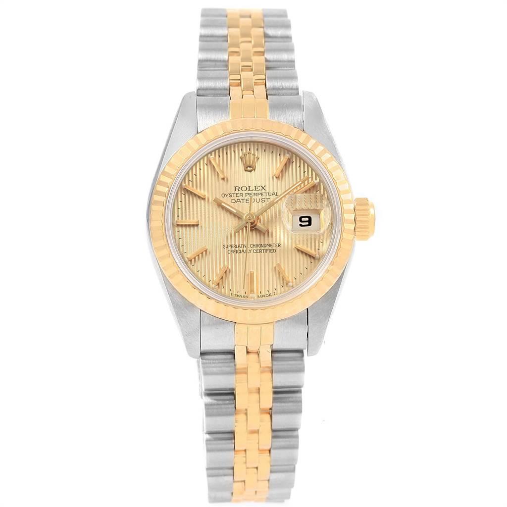 Rolex Datejust 26 Steel Yellow Gold Tapestry Dial Ladies Watch 69173 SwissWatchExpo