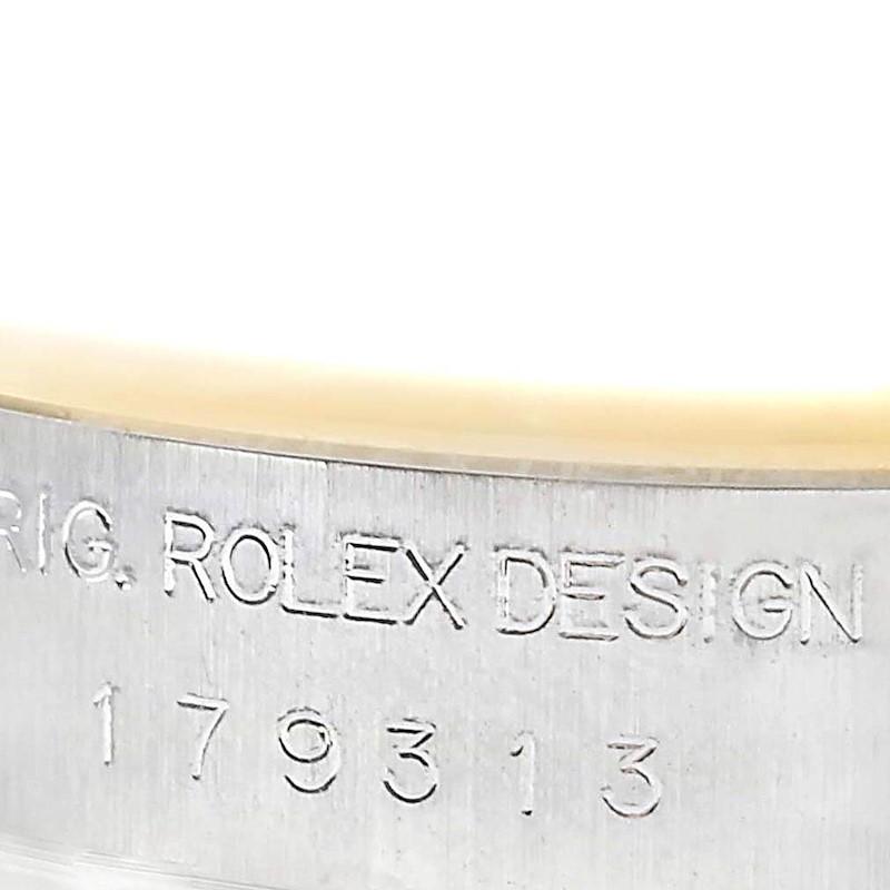 Rolex Datejust Steel Yellow Gold Diamond Ladies Watch 179313 SwissWatchExpo