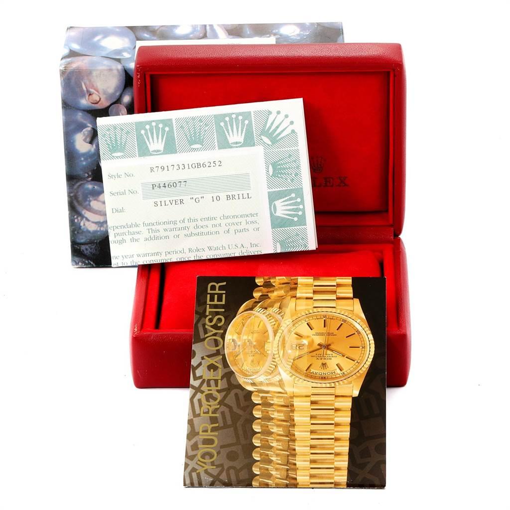 Rolex Datejust Steel Yellow Gold Diamond Ladies Watch 79173 Box Papers SwissWatchExpo
