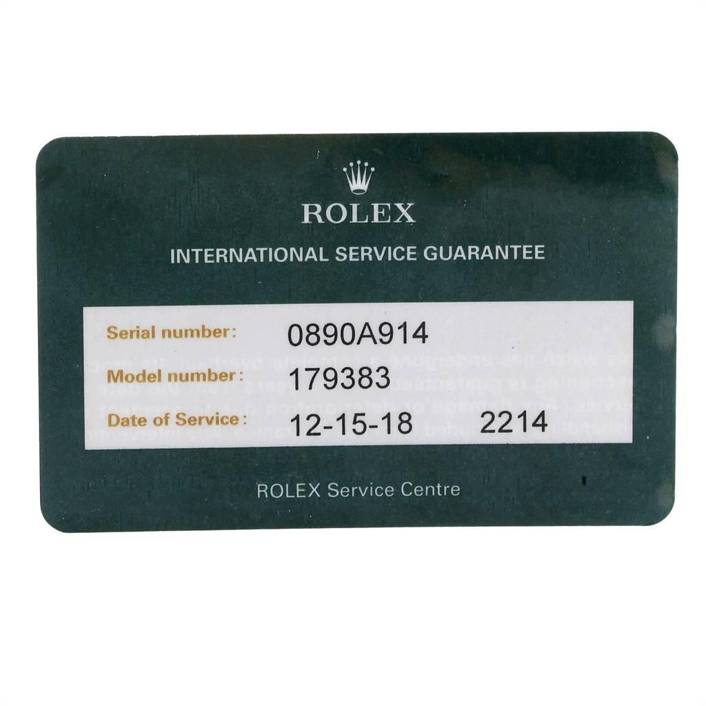 Rolex Datejust 26 Steel Yellow Gold MOP Diamond Ladies Watch 179383 SwissWatchExpo