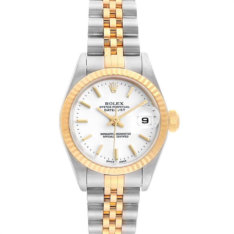 Rolex Datejust Steel Yellow Gold White Dial Ladies Watch 79173 SwissWatchExpo