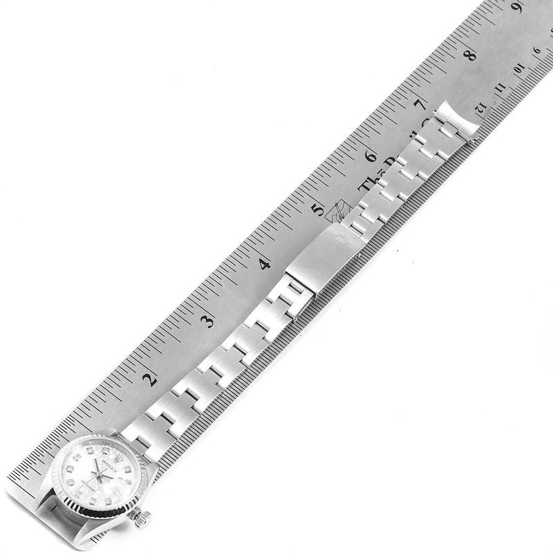 Rolex Datejust 26 Steel White Gold Diamond Dial Ladies Watch 79174 SwissWatchExpo