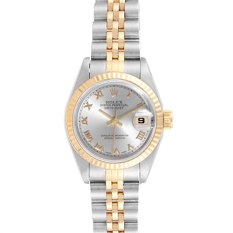 Rolex Datejust Steel Yellow Gold Rhodium Dial Ladies Watch 69173 SwissWatchExpo