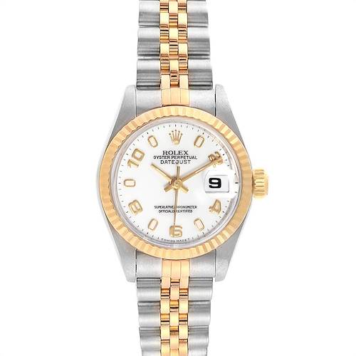 Photo of Rolex Datejust Steel Yellow Gold White Dial Ladies Watch 69173