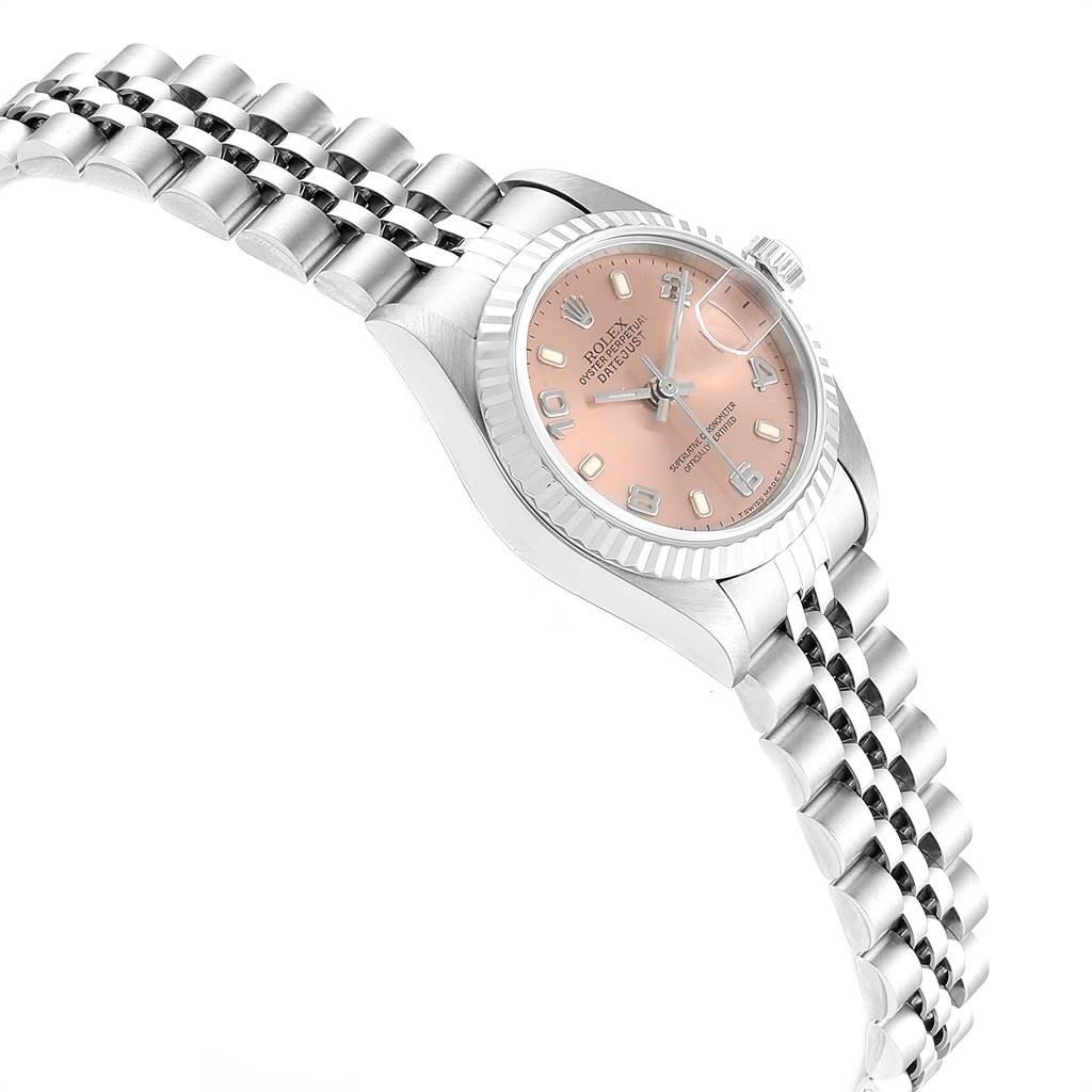 Rolex Datejust 26 Steel White Gold Salmon Dial Ladies Watch 69174 SwissWatchExpo