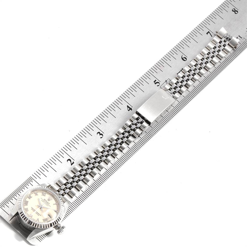 21518 Rolex Datejust 26 Steel White Gold Ivory Roman Dial Ladies Watch 69174 SwissWatchExpo