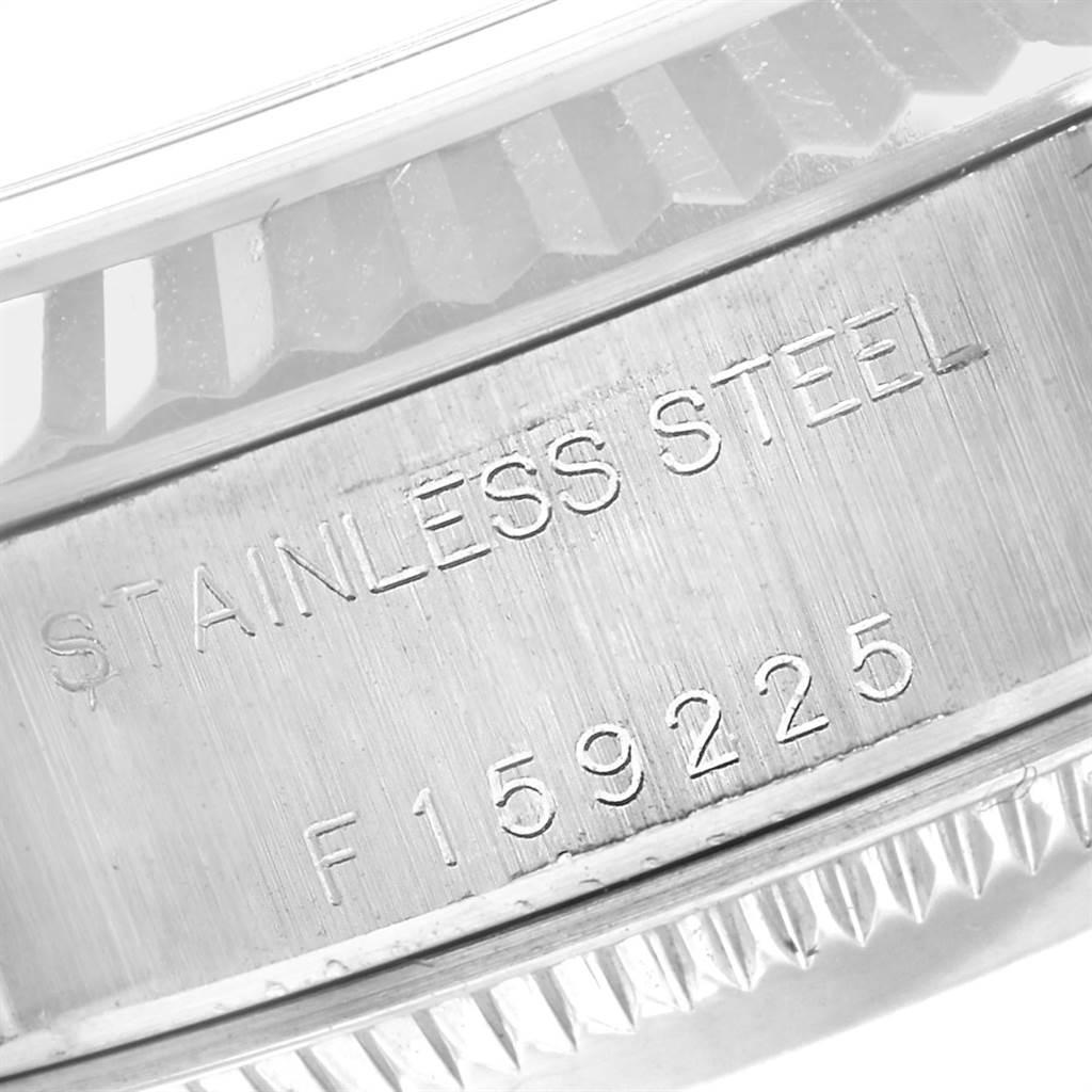 23139 Rolex Datejust Steel White Gold Rhodium Roman Dial Ladies Watch 79174 SwissWatchExpo